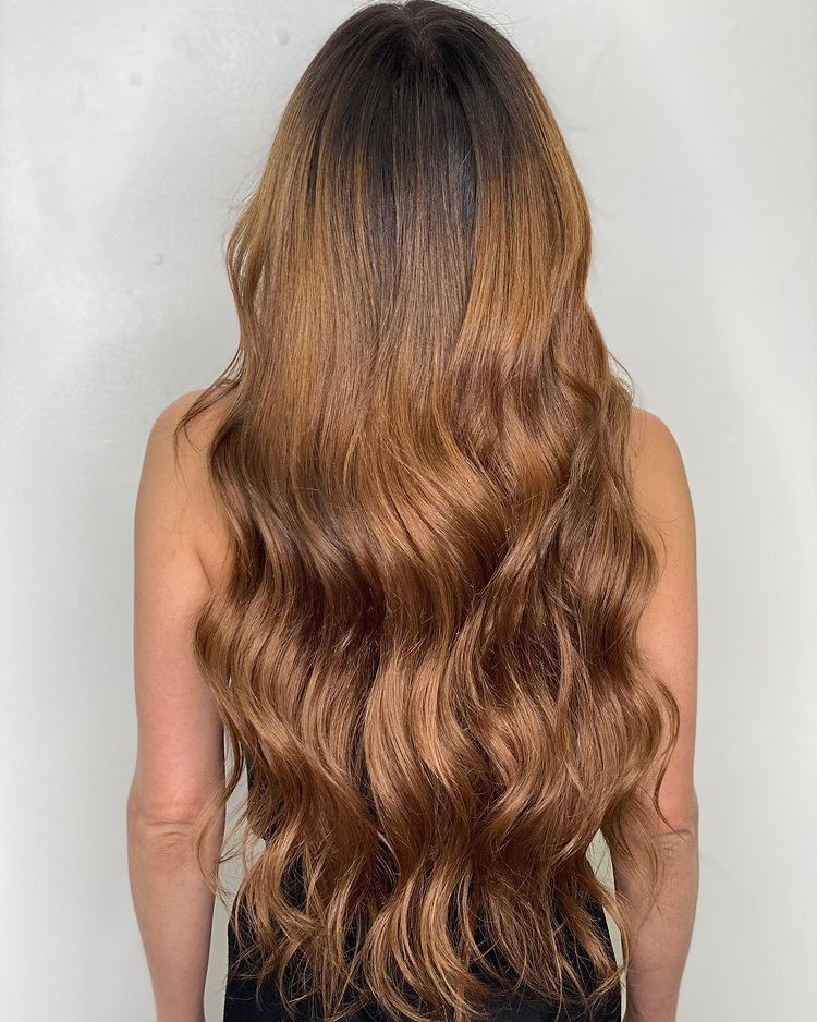 Hand Tied Extensions Long Thick Light Brown