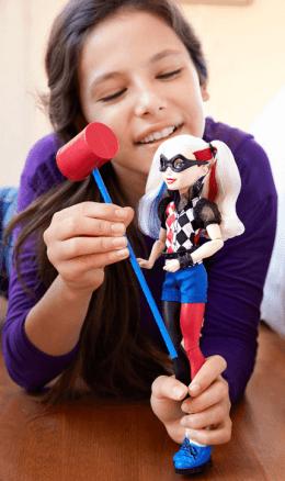 DC super hero girls harley quinn 12 action doll