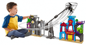 imaginext superhero flight city
