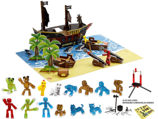 StikBot Stop Motion Pirate Movie Set Review