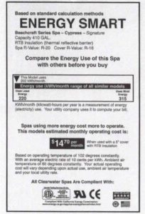 spa energy consumption label