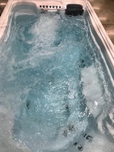 swimspa pool with hot tub
