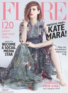 Fantastic Four's Kate Mara stuns in fashion photo shoot for Flare magazine | Daily Mail Online