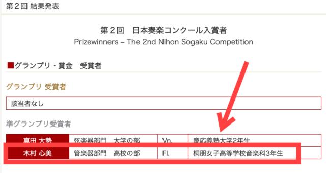 日本奏楽コンクール最高位