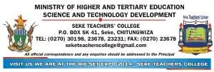 Seke Teachers College January 2022 Intake