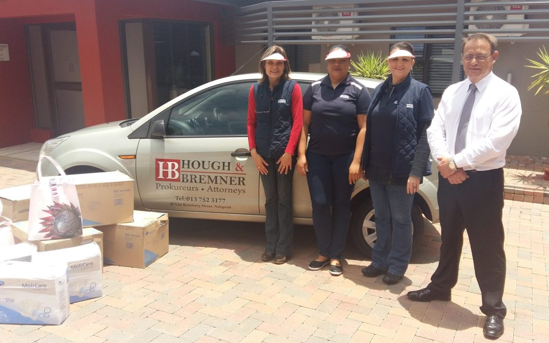 Hough & Bremner Attorneys appeals to the public to support the Nelspruit Hospice.