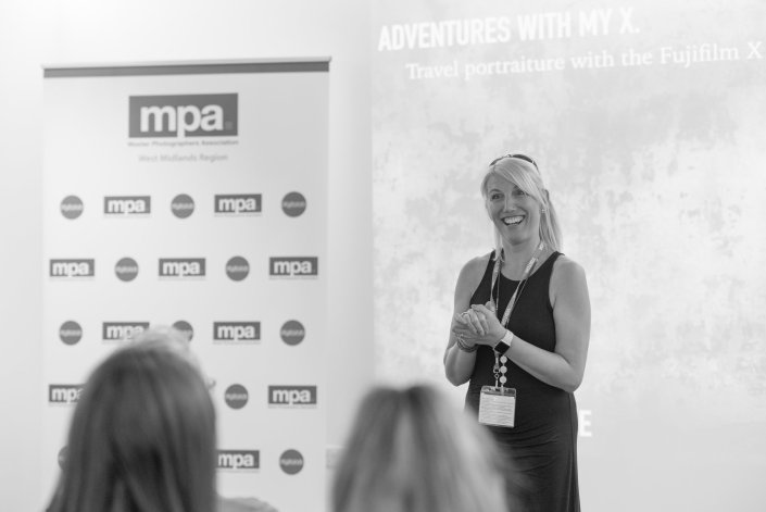 MPA West Midlands Regional Chairperson Karen Massey welcomes the group of members and new faces to the 2018 Presidential Visit and Regional Print Competition Day held at Warwickshire College.