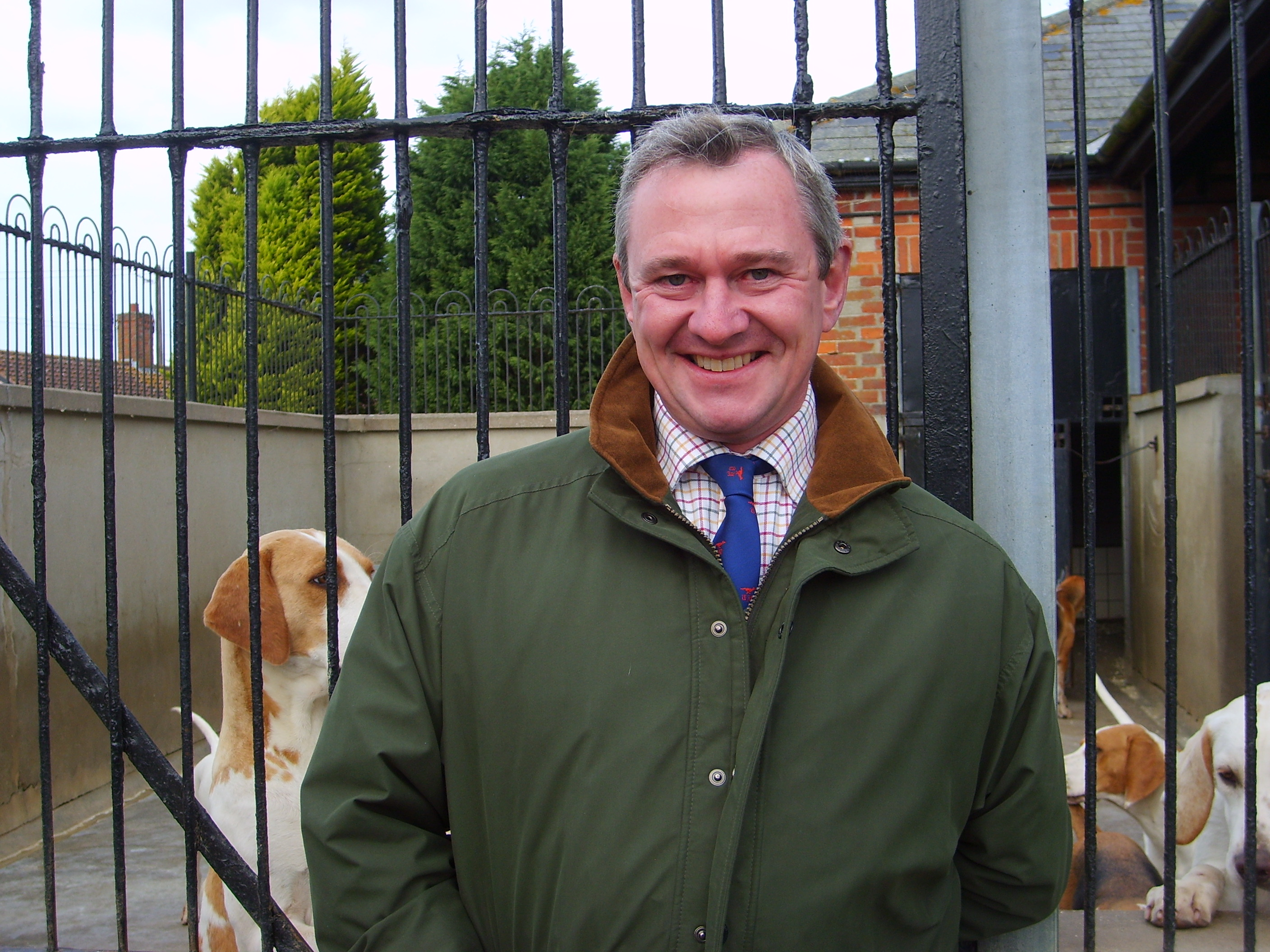 MFH Robin Vestey of the Thurlow, a keen hound man and a hound show judge