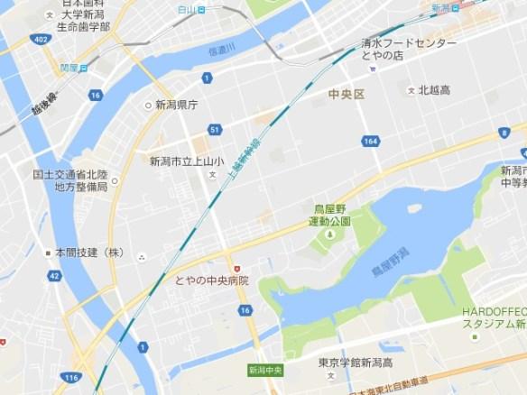 信濃川と鳥屋野潟