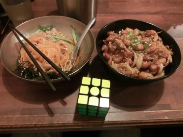 冷麺+ぼんじり丼
