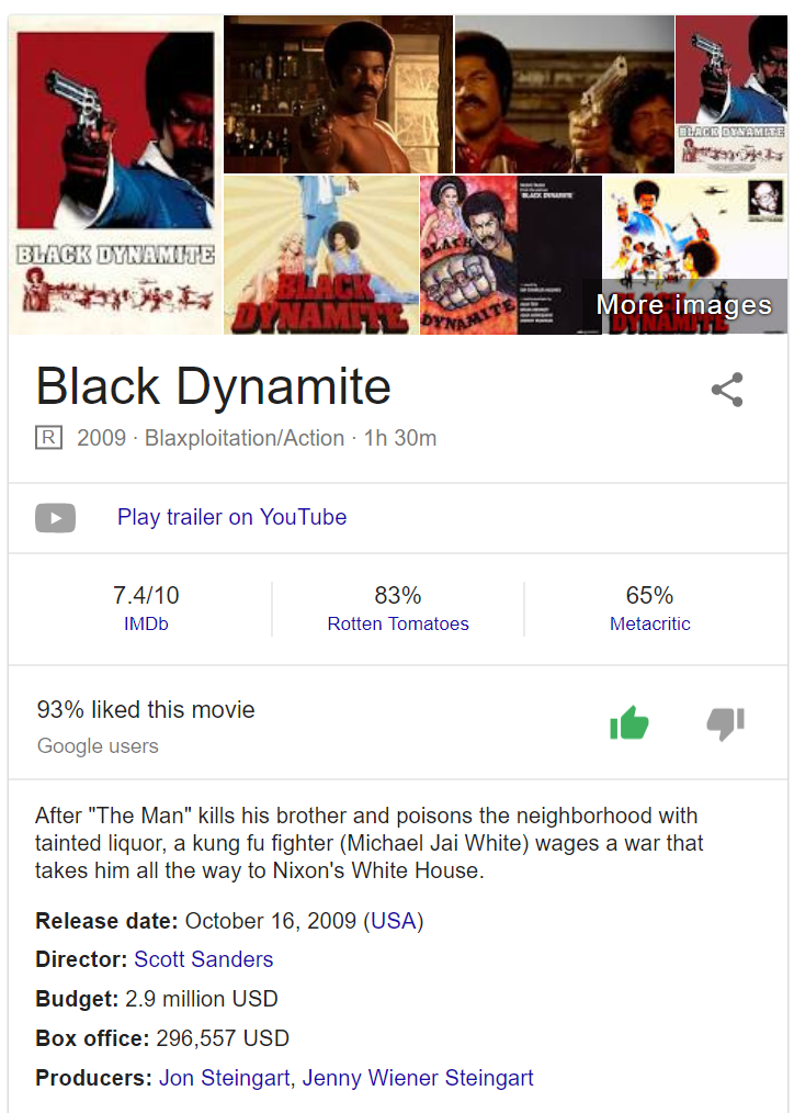 Black Dynamite Google info