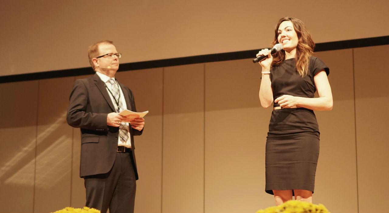 Frank Handrich und Hannah Schuller
