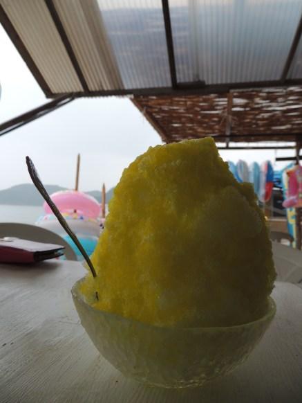 Banana shaved ice!