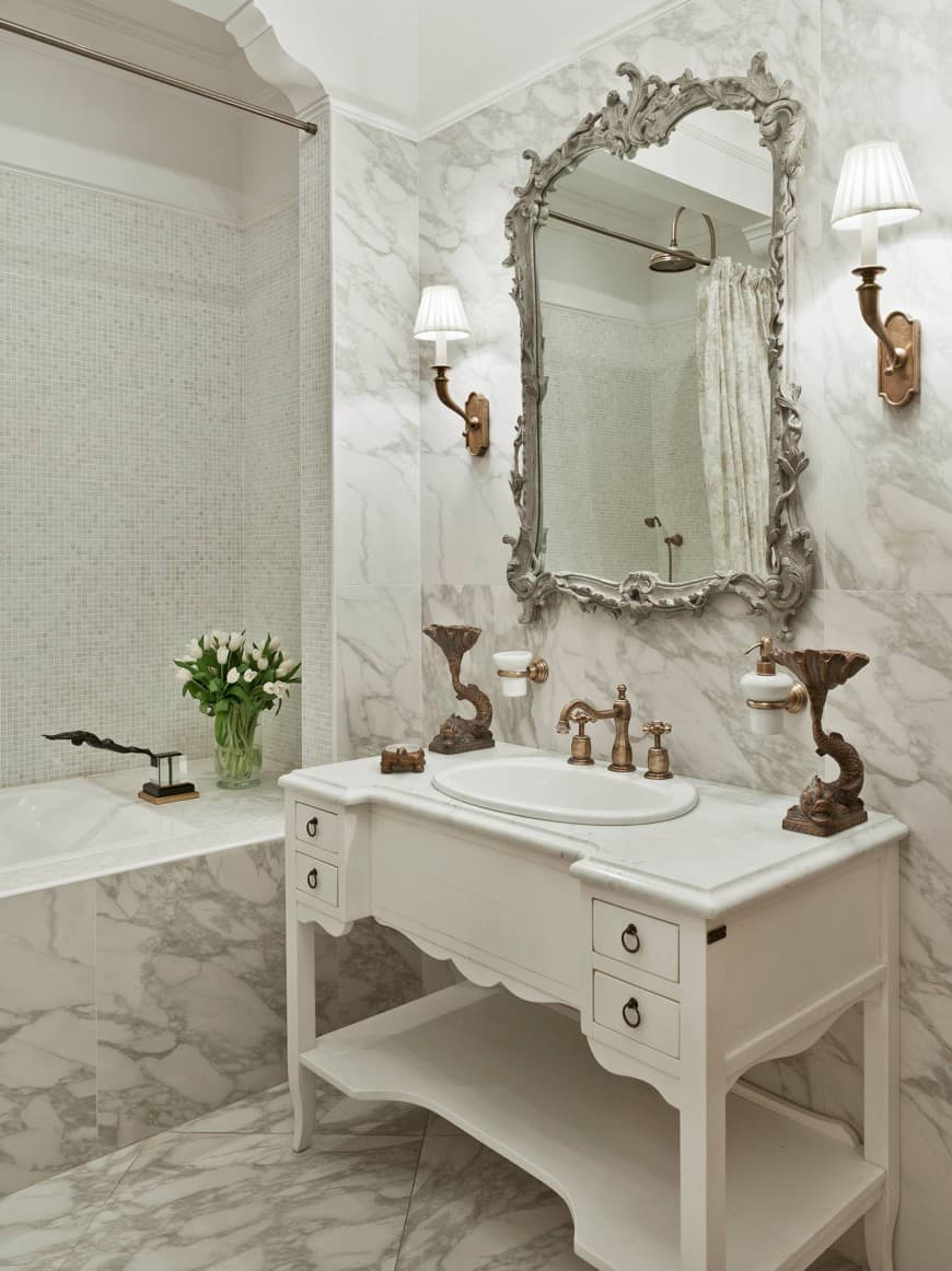 Interior trends 2017: Vintage bathroom - HOUSE INTERIOR