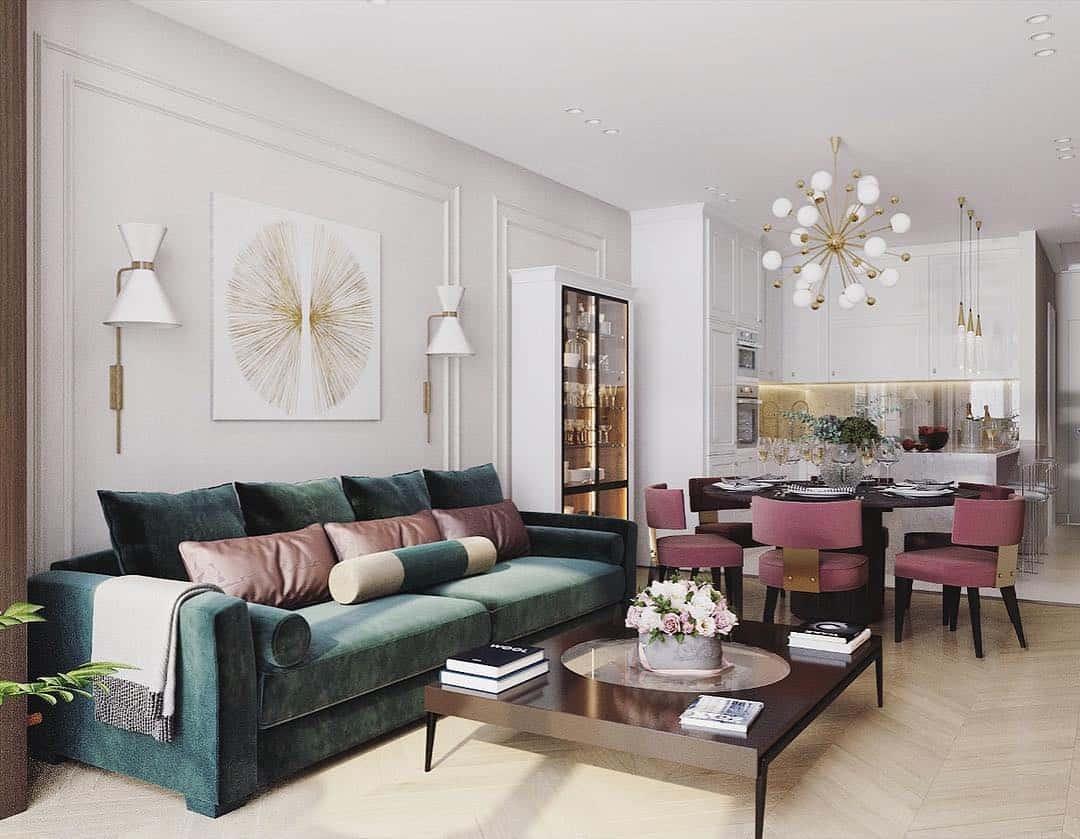 Color Living Room Wallpaper Trends 2021 Novocom Top