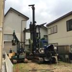 喜久井の家004 地盤改良/地面改善開始施工