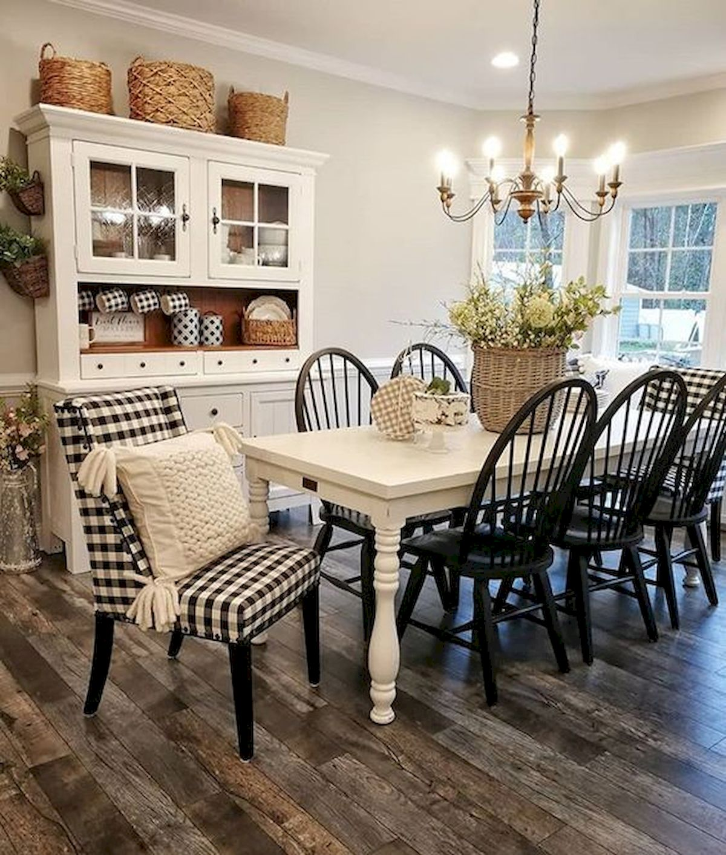 40 Adorable Farmhouse Dining Room Design And Decor Ideas (12)