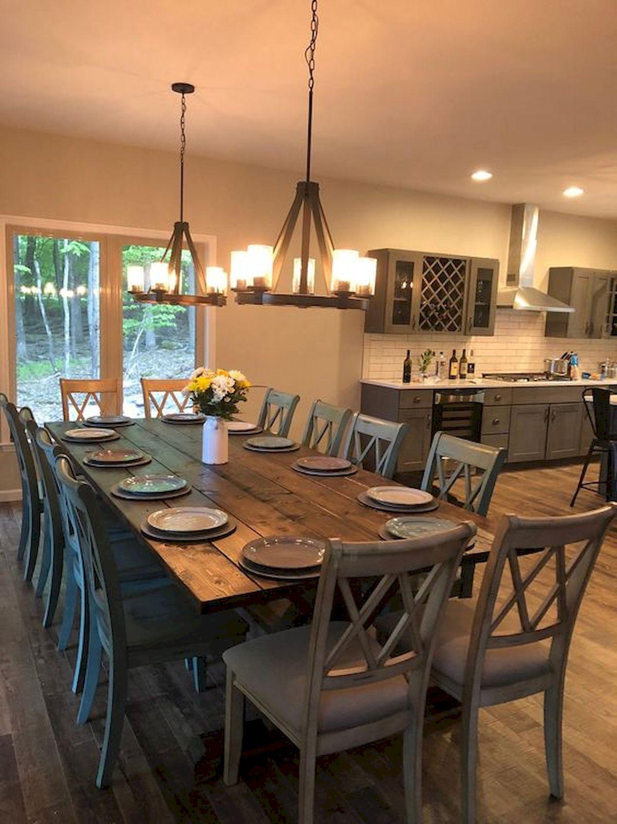 40 Adorable Farmhouse Dining Room Design And Decor Ideas (23)