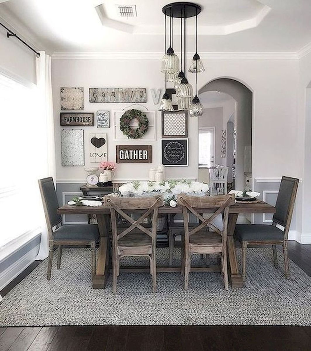 50 Awesome Wall Decoration Ideas for Dinning Room (40)
