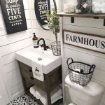 66 Cool Modern Farmhouse Bathroom Tile Ideas (30)