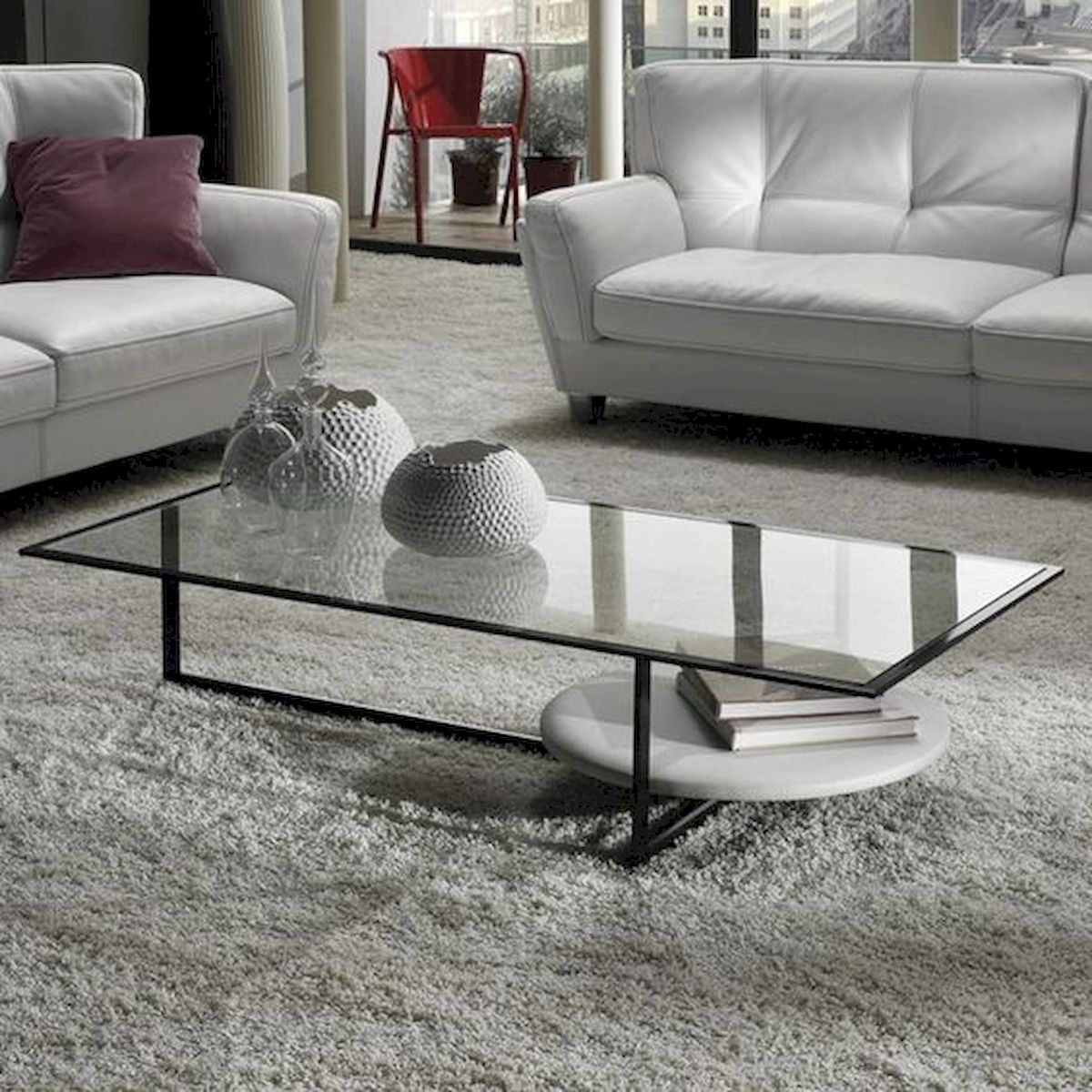 40 Awesome Modern Glass Coffee Table Design Ideas For Your Living Room (28)