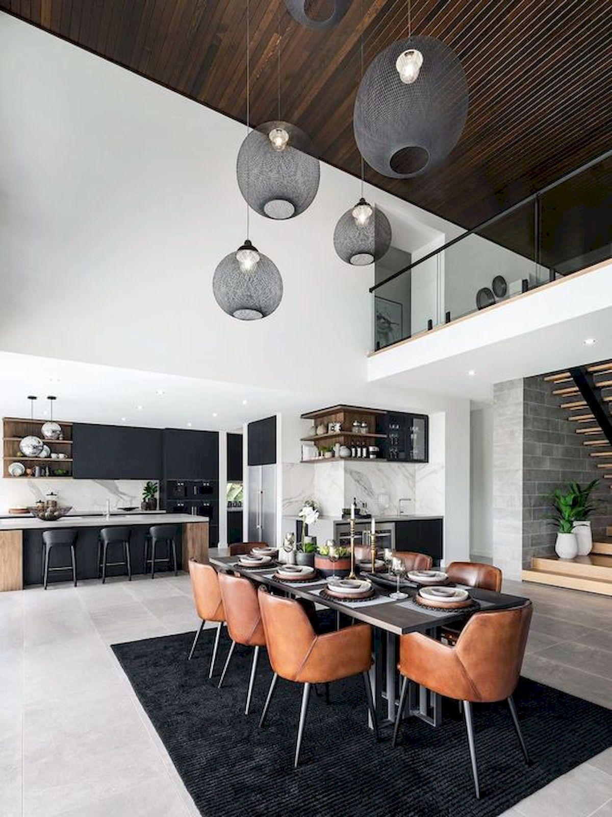 80 Elegant Modern Dining Room Design And Decor Ideas (39)