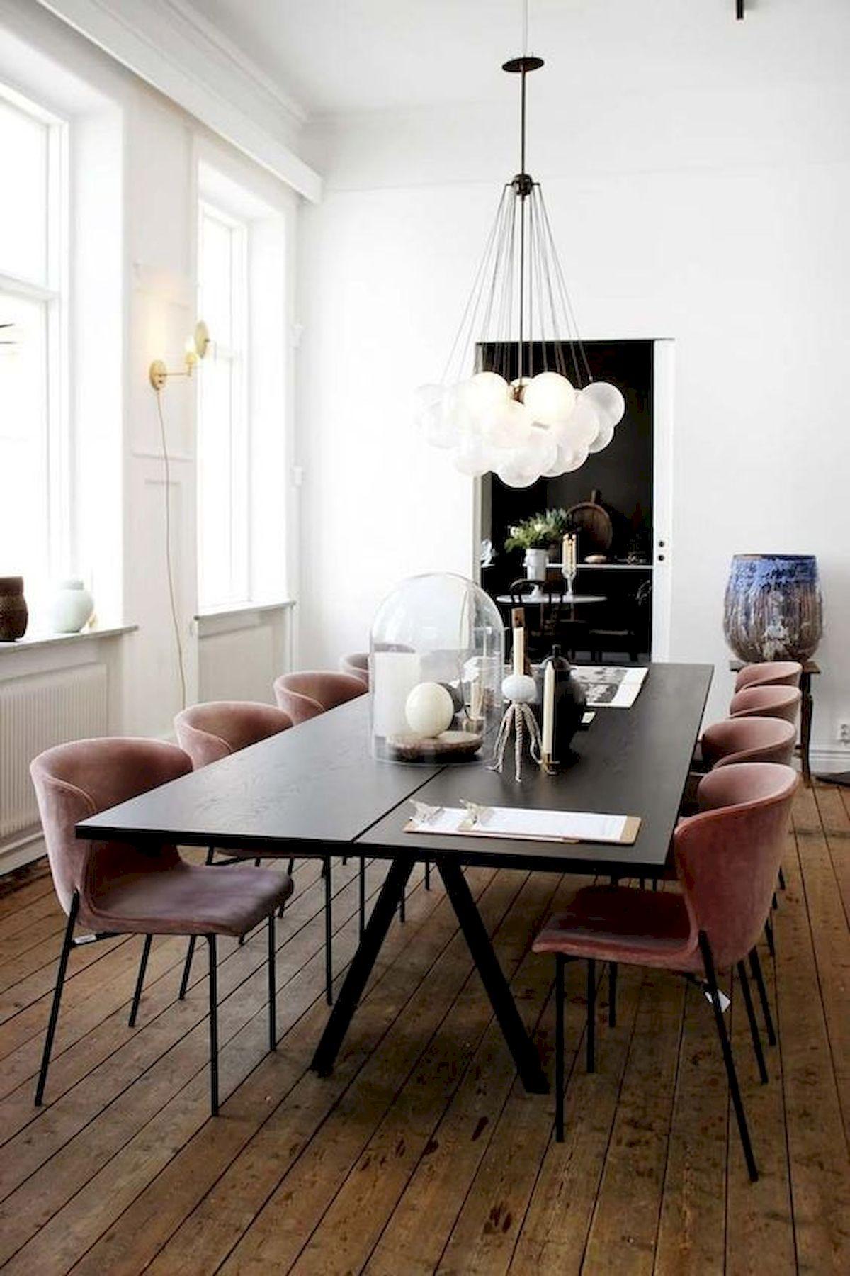 80 Elegant Modern Dining Room Design And Decor Ideas (62)