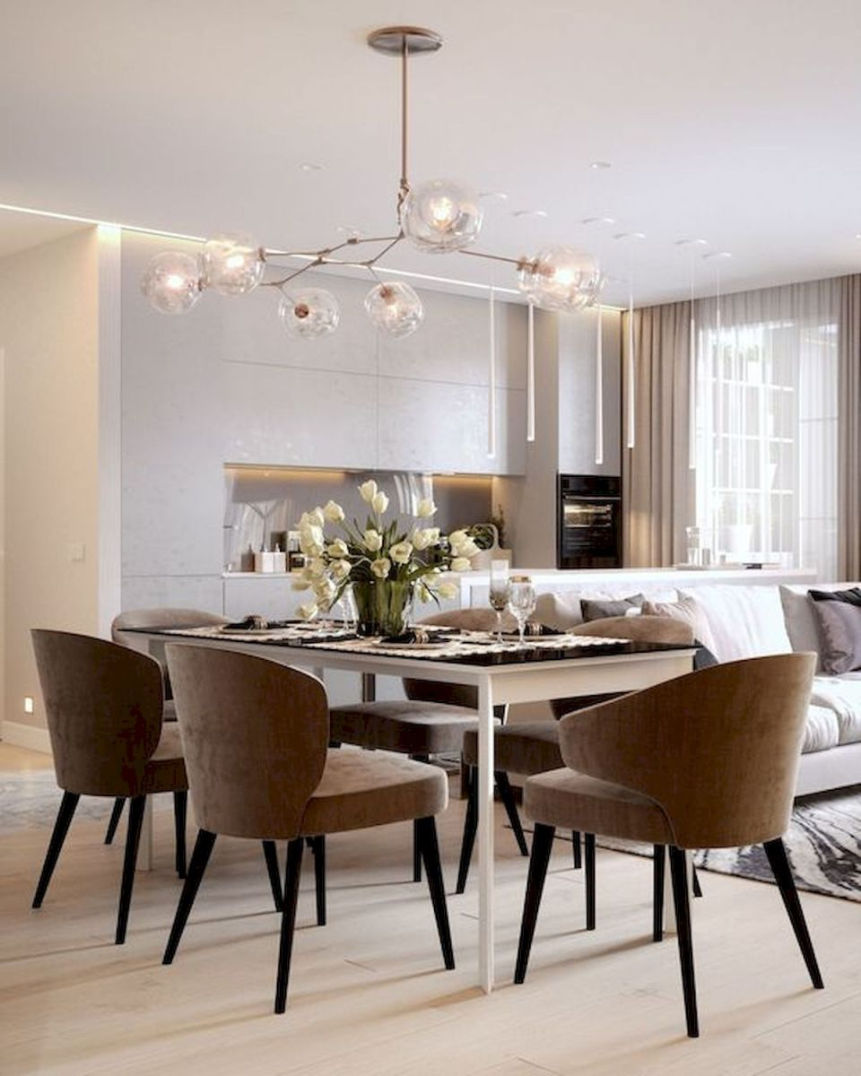 80 Elegant Modern Dining Room Design and Decor Ideas (64)