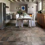 30 Best Kitchen Floor Tile Design Ideas With Concrete Floor Ideas (4)