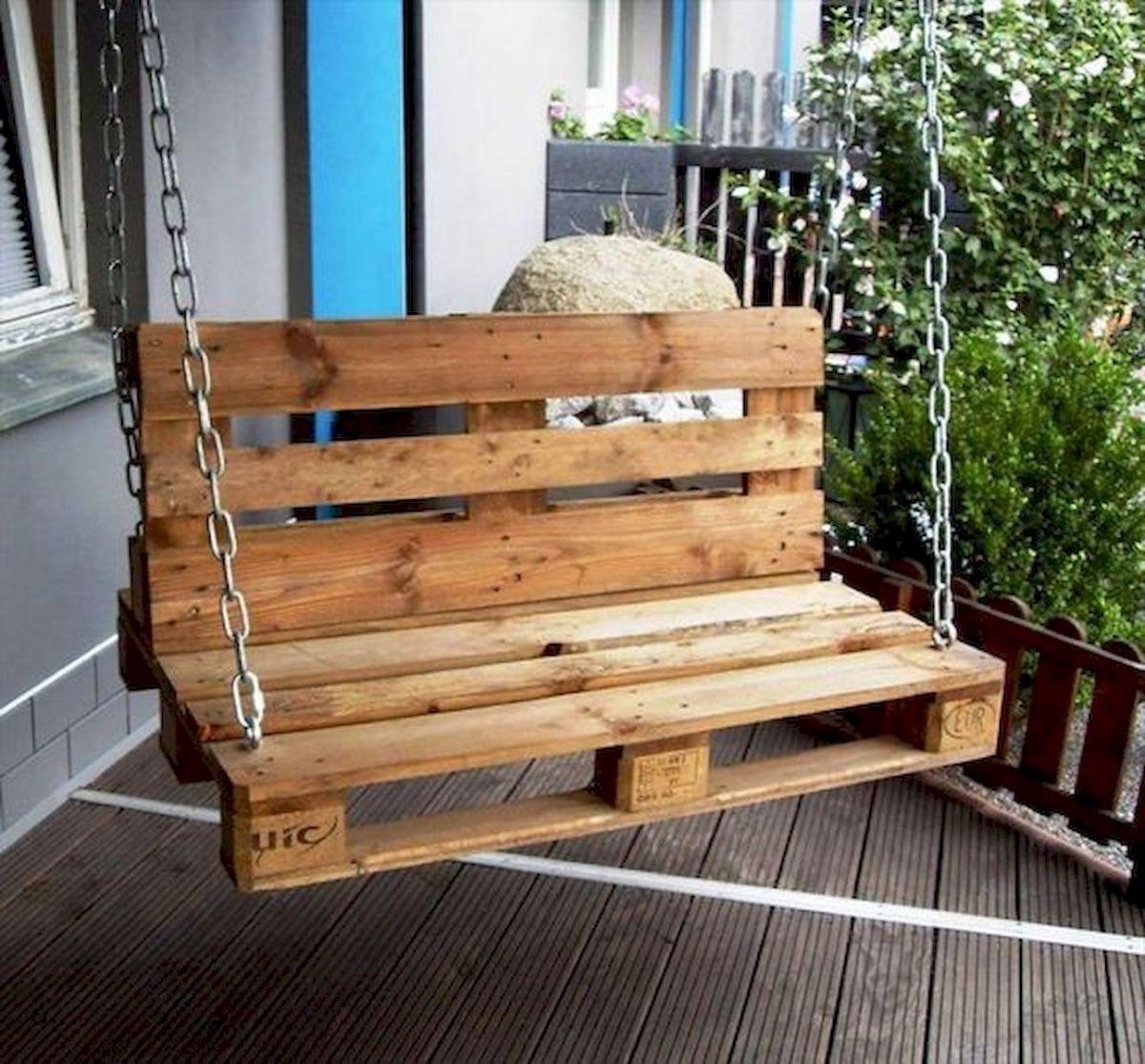 30 Fantastic DIY Wooden Pallet Swing Chair Ideas (20)