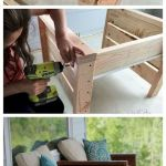 40 Fantastic Outdoor Bench Ideas For Backyard and Front Yard Garden (34)
