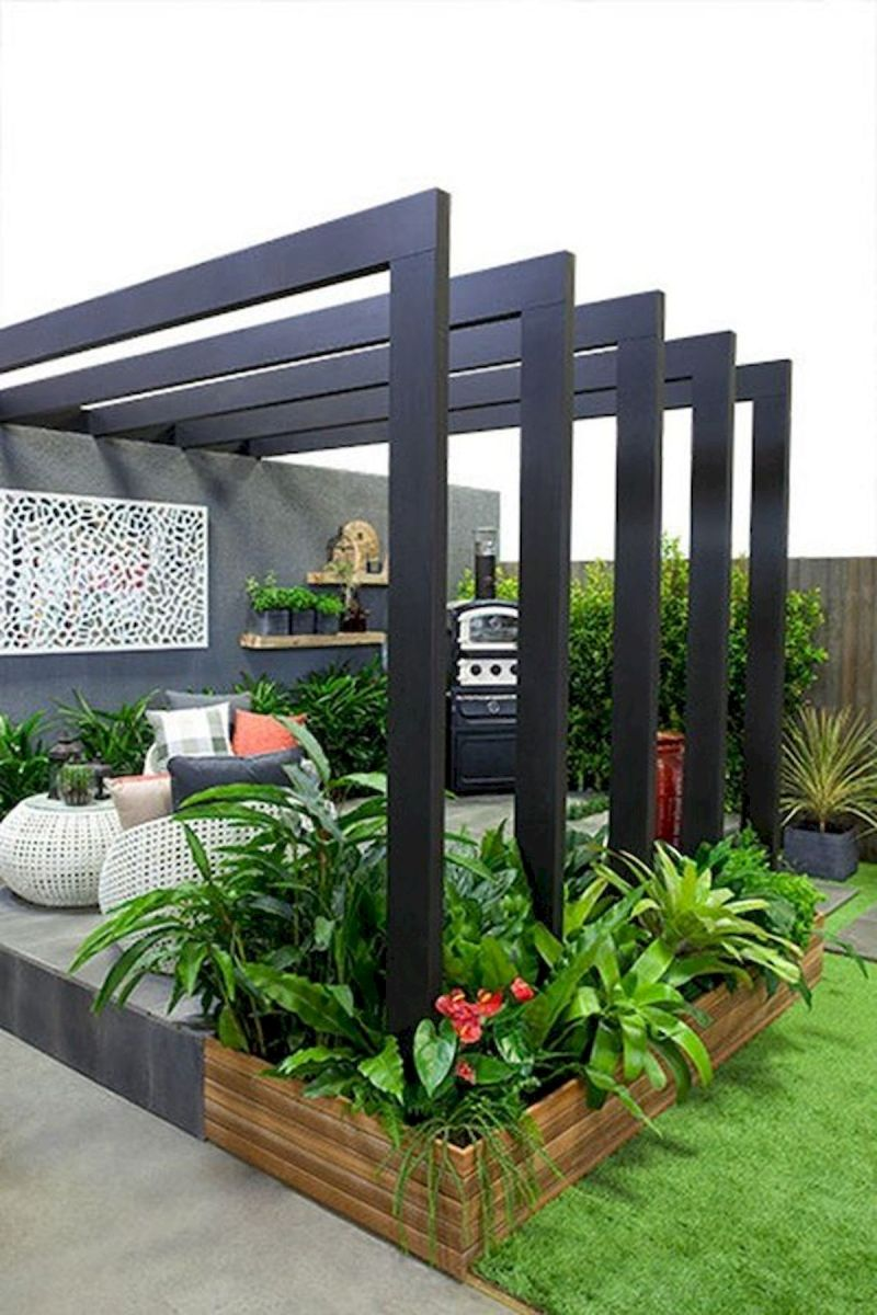 40 Fabulous Modern Garden Designs Ideas For Front Yard and Backyard (32)