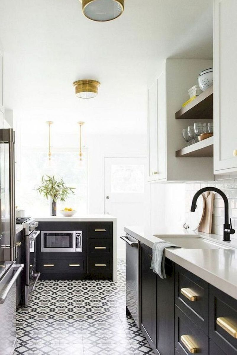 30 Stunning Black Kitchen Ideas You Will Love (21)