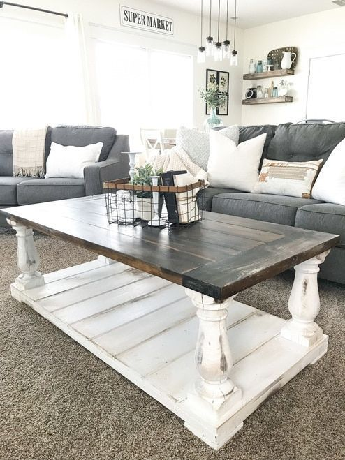 20 Best Farmhouse Coffee Table Decor Ideas (3)