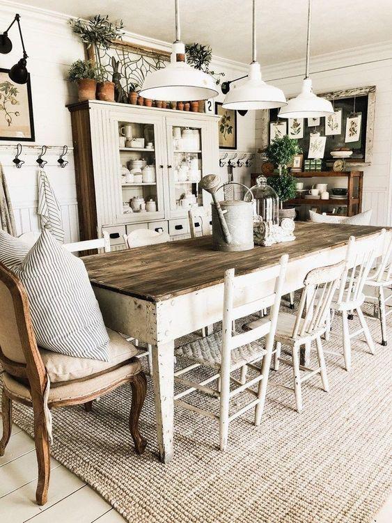 20 Best Farmhouse Dining Room Decor Ideas (17)
