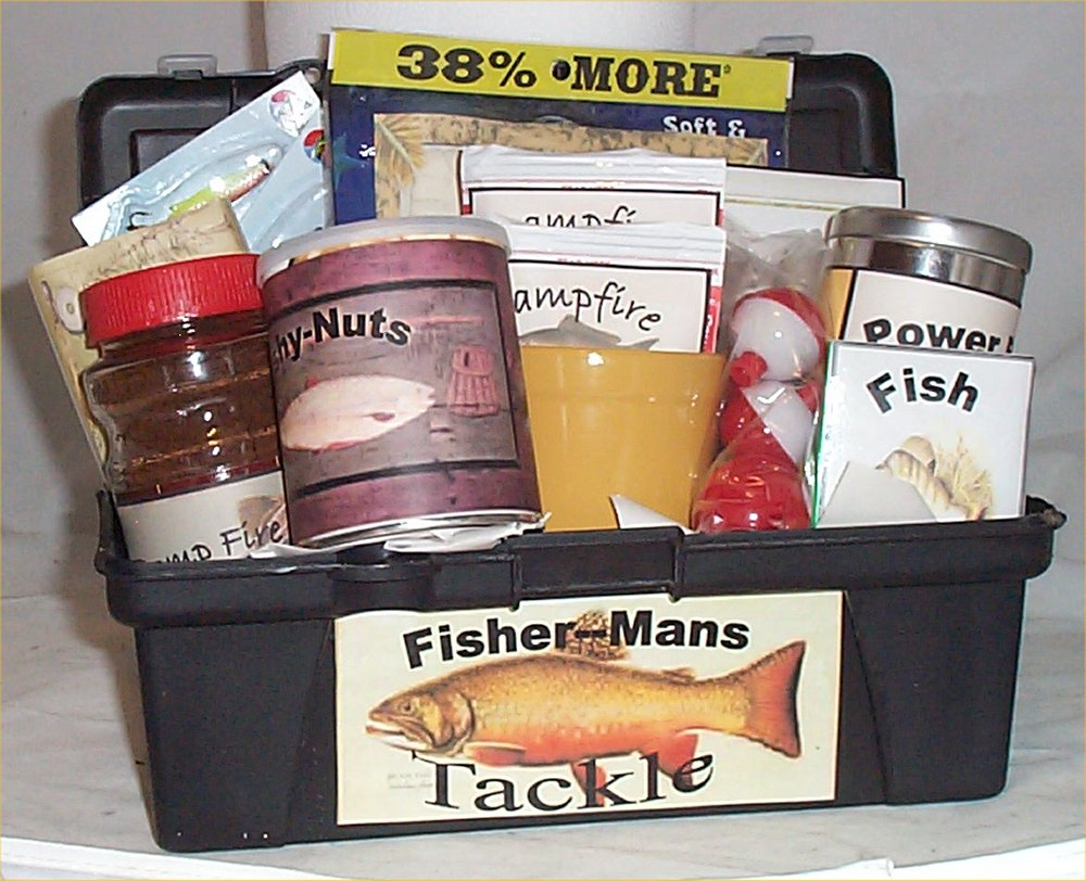 Tackle Box Men Gift Basket Fun Fishing Gift Basket Men