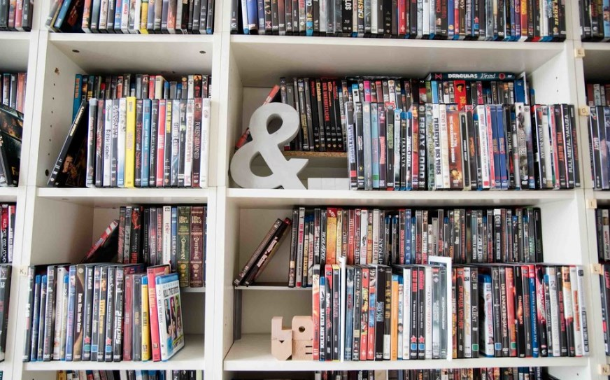 wall mounted dvd storage ideas