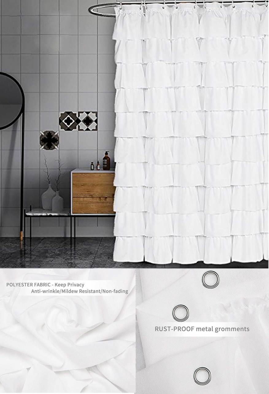 white modern curtain