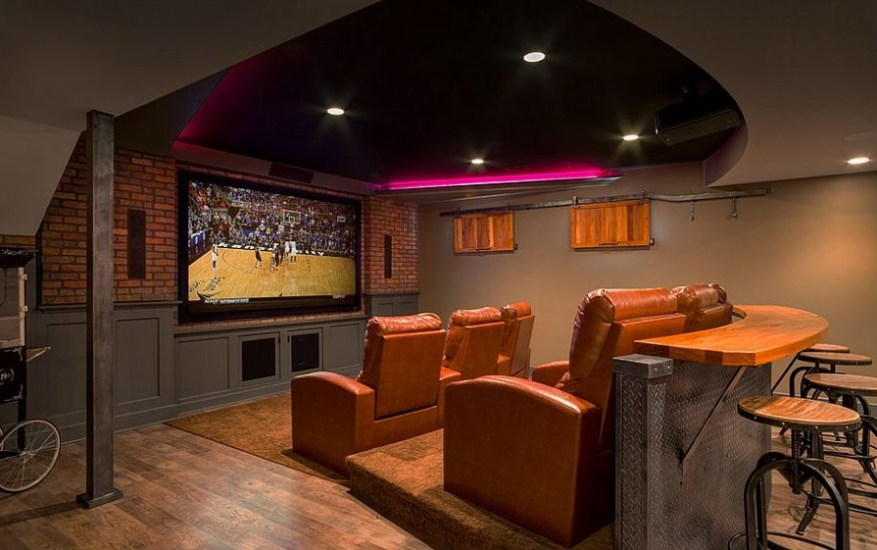 basement home theatre pictures