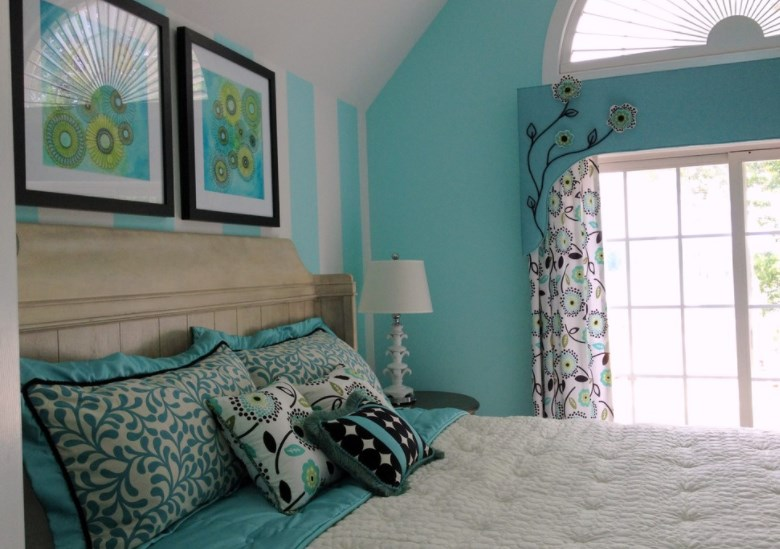 turquoise accessories for living room