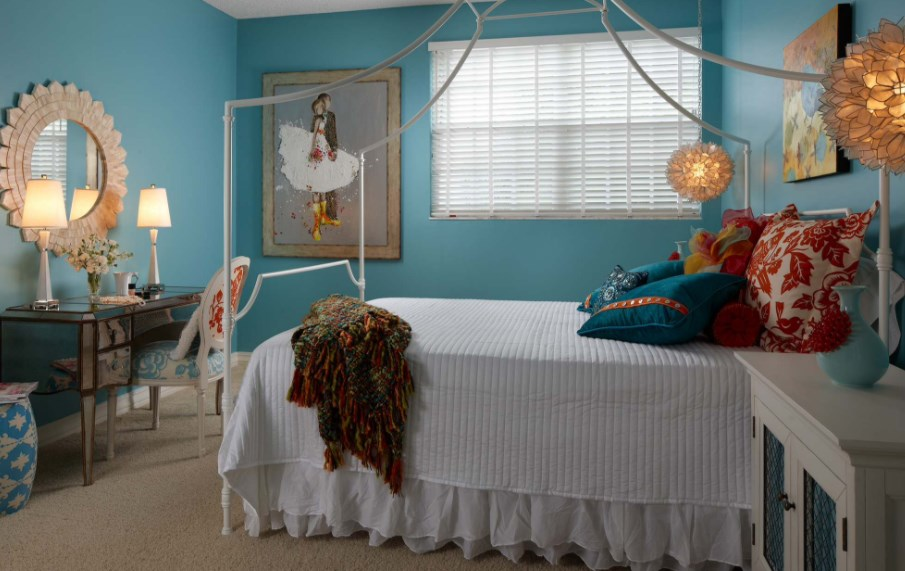 turquoise color room ideas