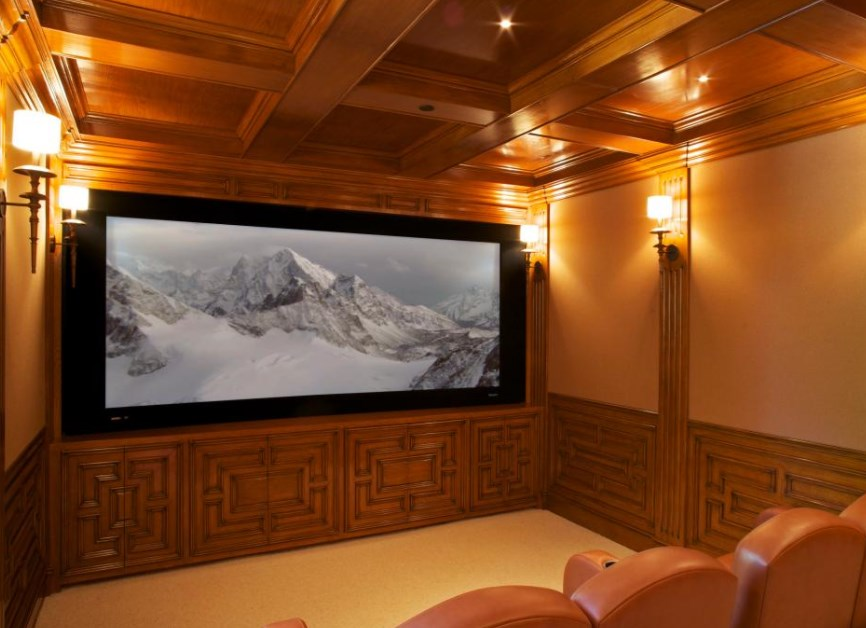 basement home theater setup
