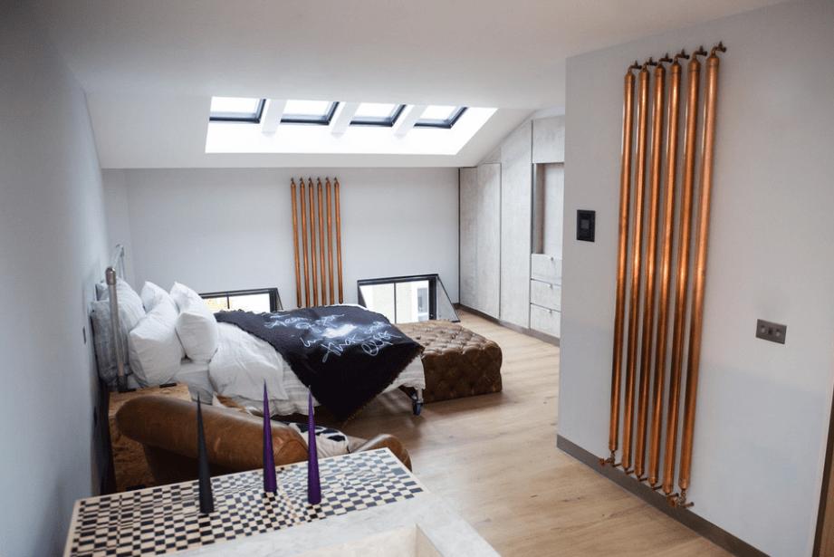 Steampunk Attic Bedroom Walls