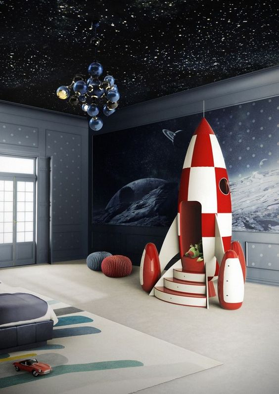 Space Theme Boys Room