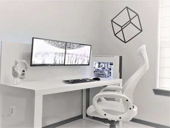 White Gaming Setup