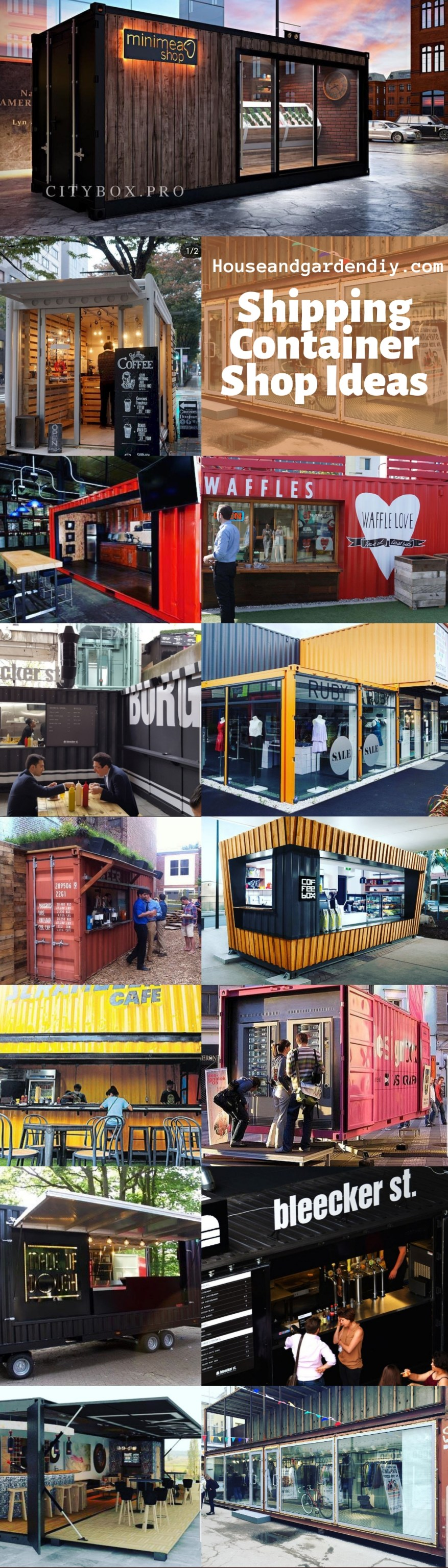 Shipping Container Shop Ideas