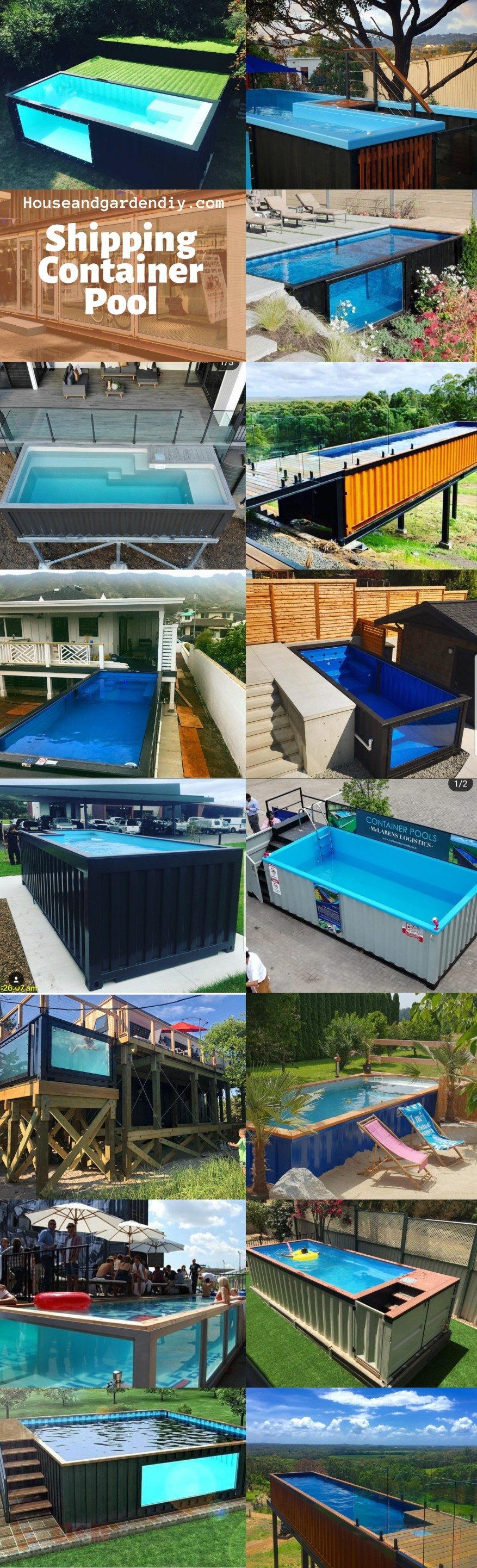 Shipping Container Pool Ideas