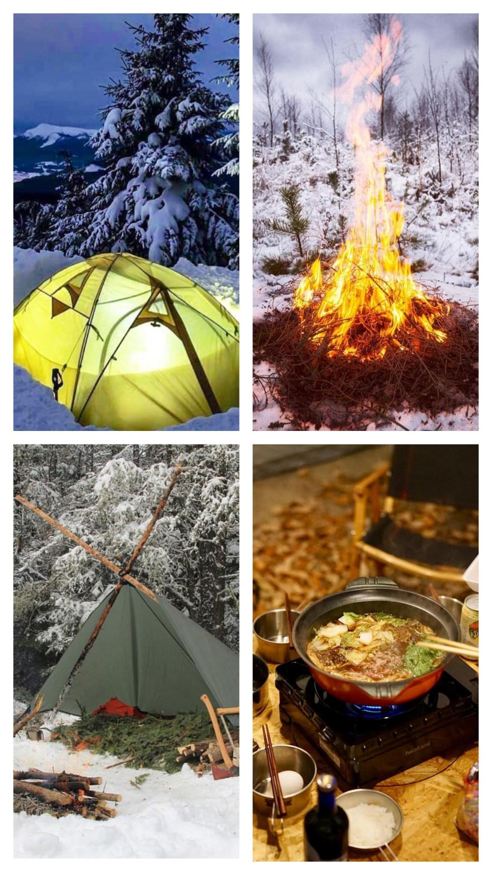 camping winter