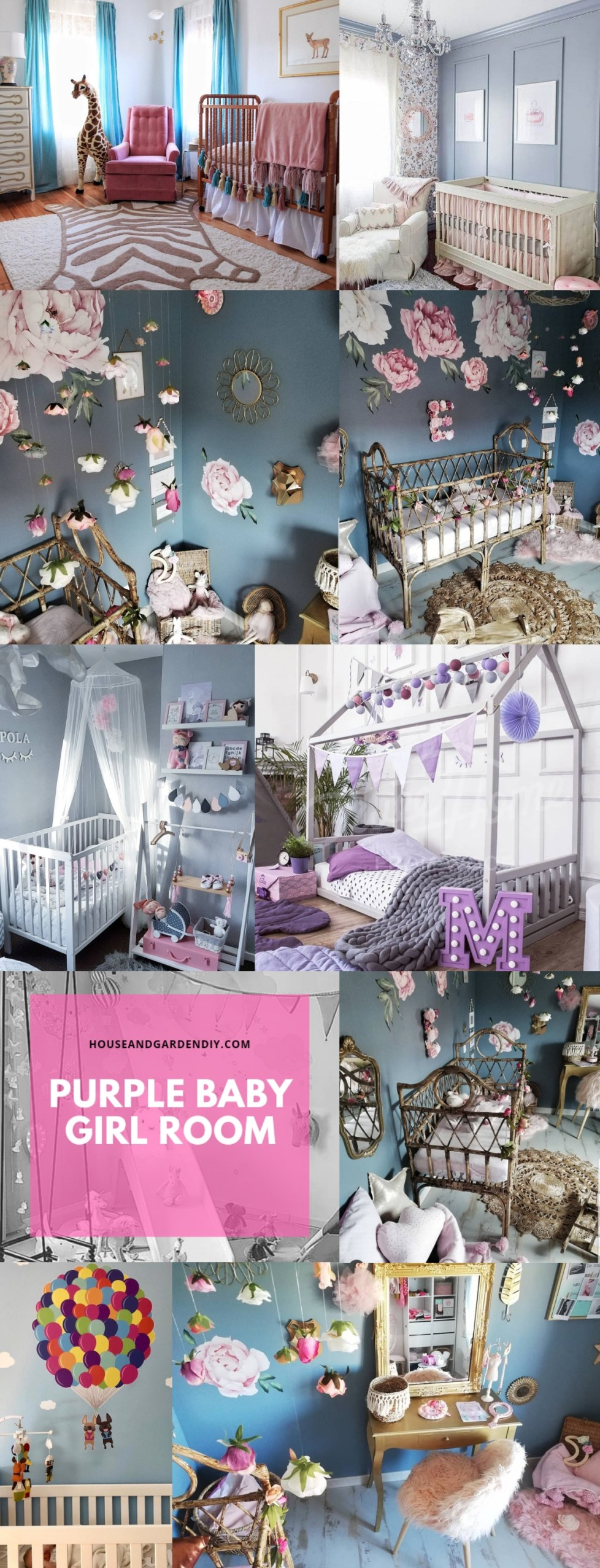 purple baby girl room