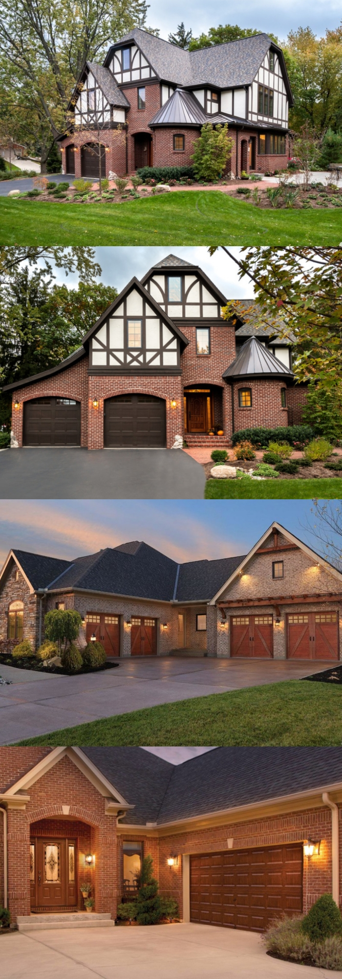 Brick Cool door garage ideas